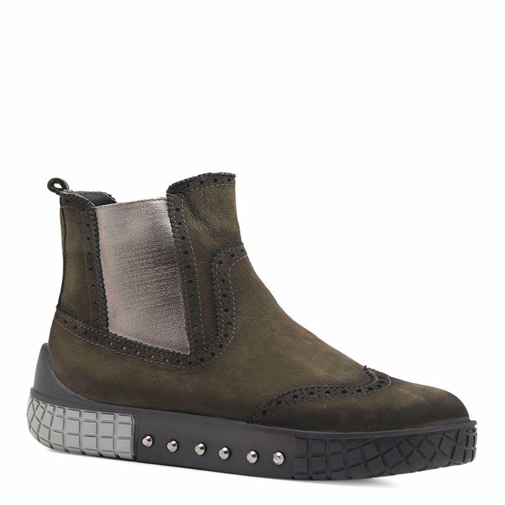 Купить Женская обувь, Ботинки осенние на низком ходу, Prego, хаки