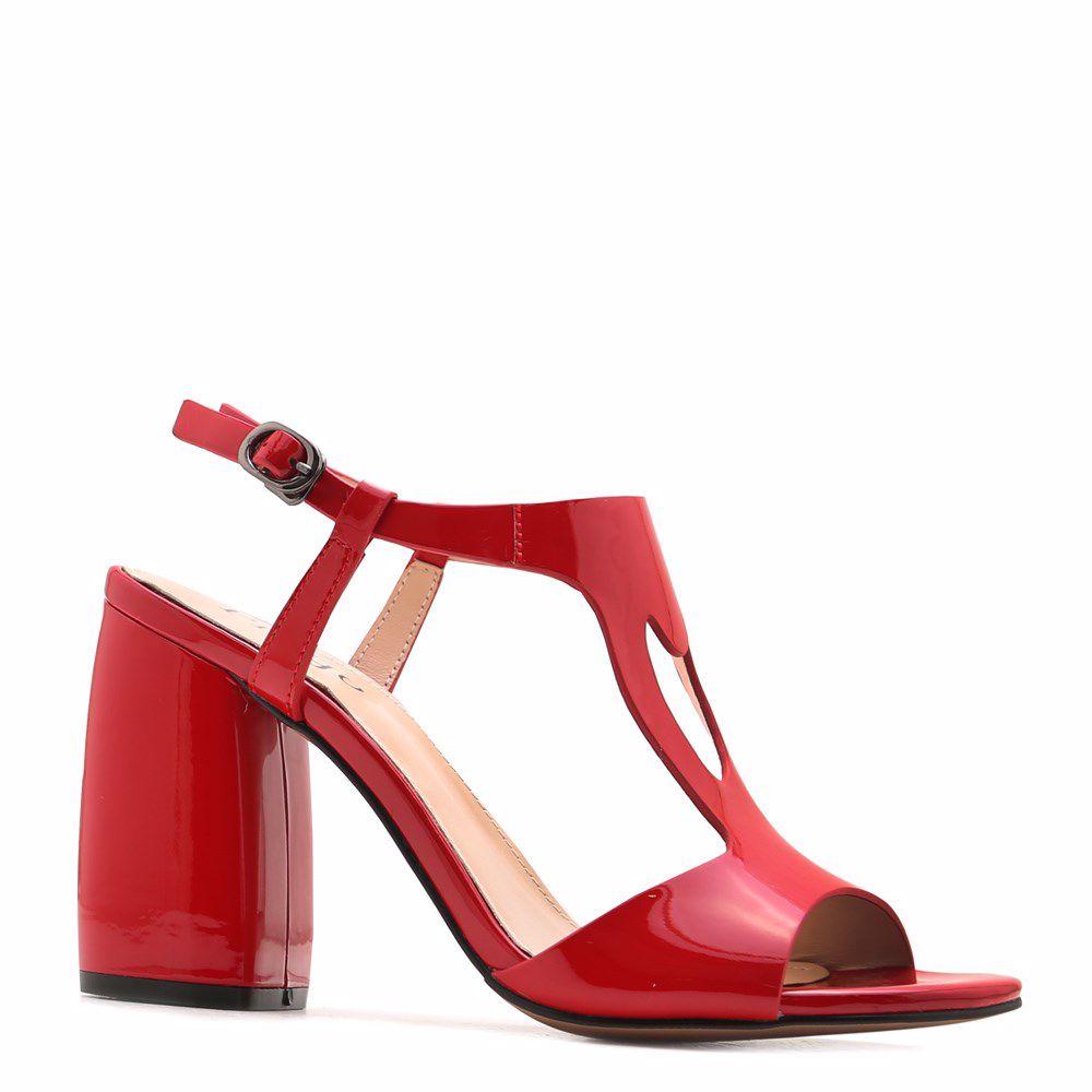 Купить Женская обувь, Босоножки на каблуке, Prego, красный