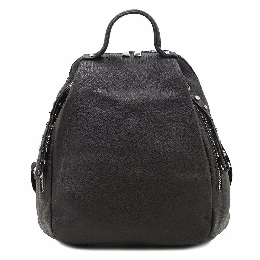 022255 Рюкзак жіночий шкіряний Balina, чорна, натуральна шкіра
