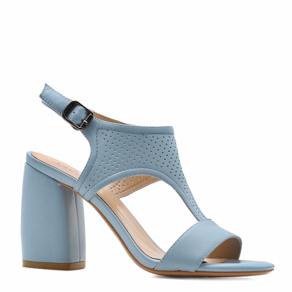 Купить Женская обувь, Босоножки на каблуке, Prego, голубой