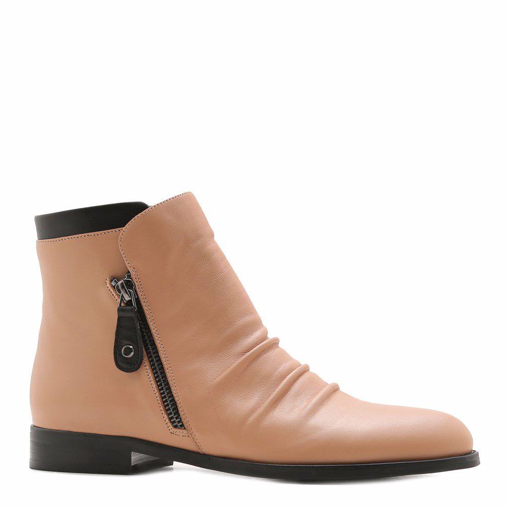 Купить Женская обувь, Ботинки весенние на низком ходу, Prego, бежевый