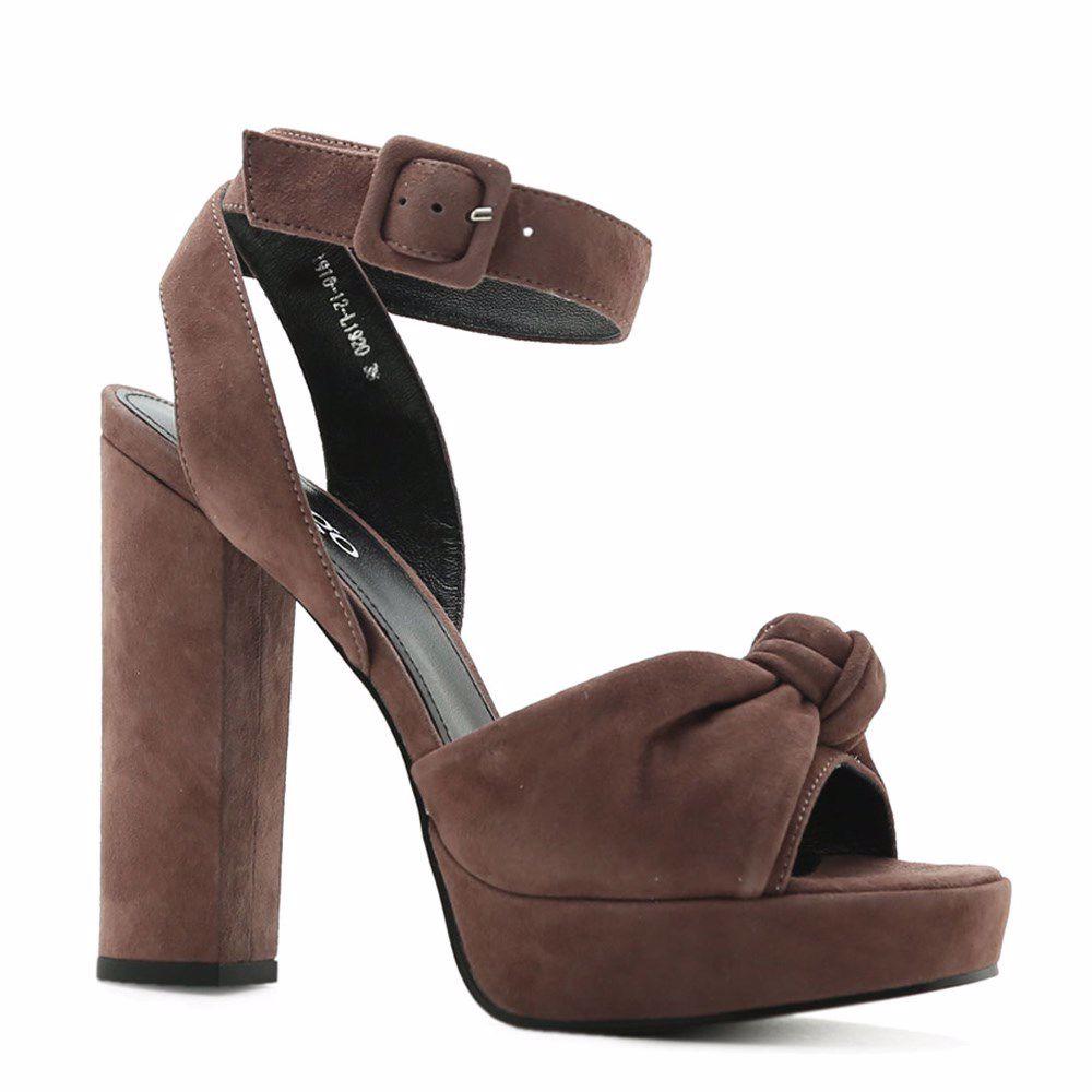 Женская обувь, Босоножки на каблуке, Prego, коричневый  - купить со скидкой