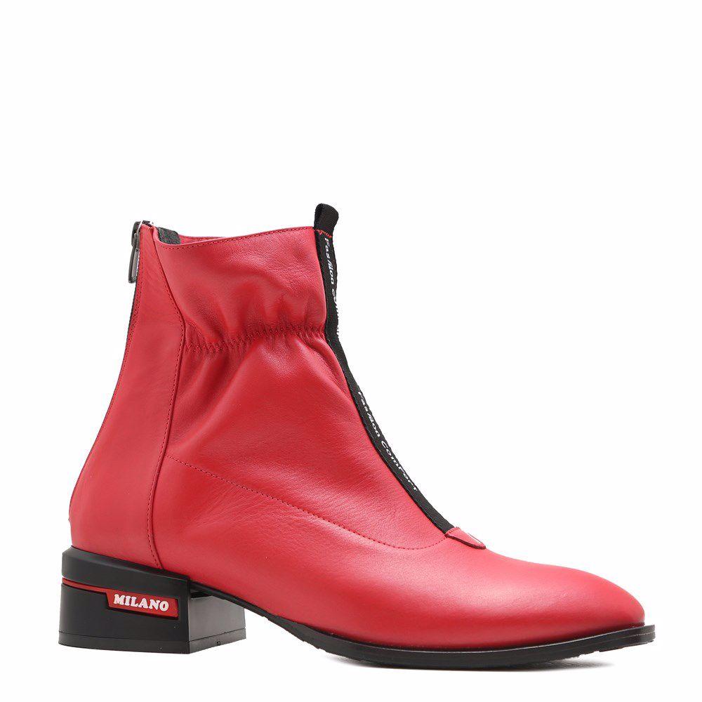 Купить БОТИНКИ НА НИЗКОМ ХОДУ, Ботинки осенние на низком ходу, Prego, красный