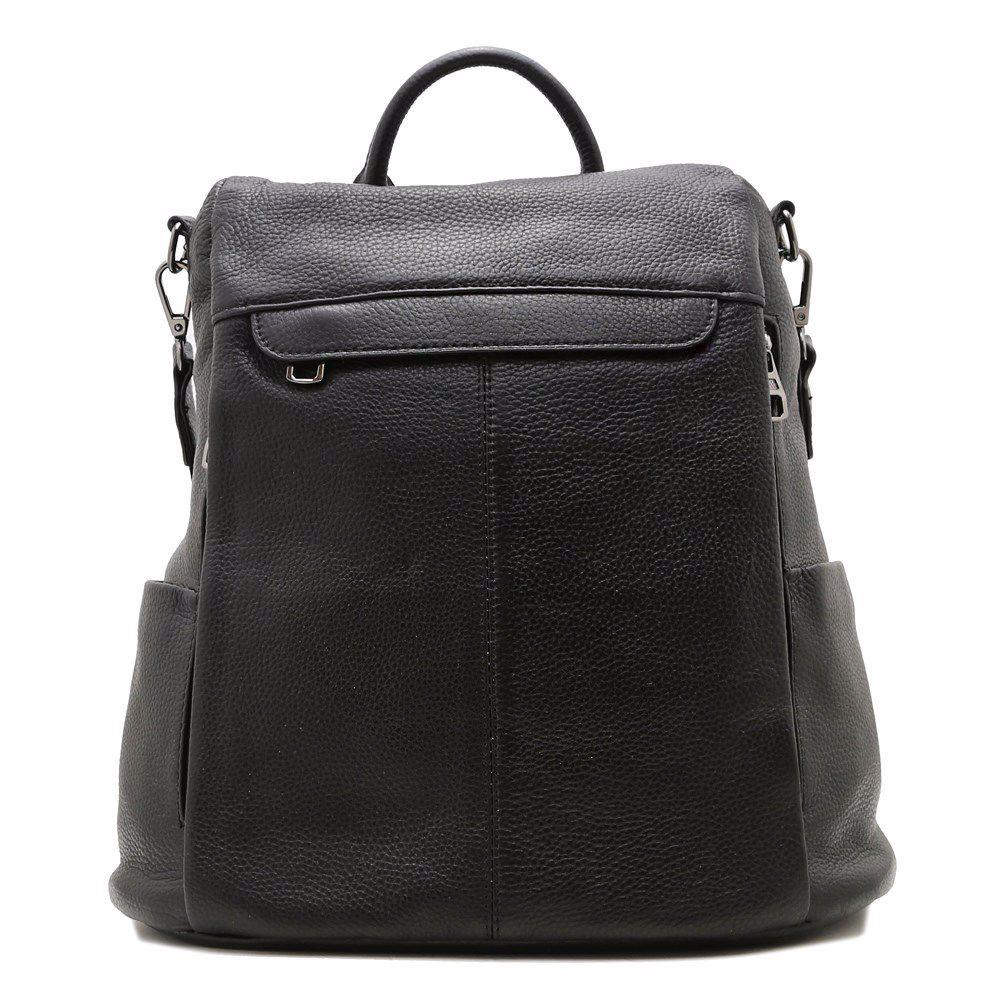 022256 Рюкзак жіночий шкіряний Balina, чорна, натуральна шкіра