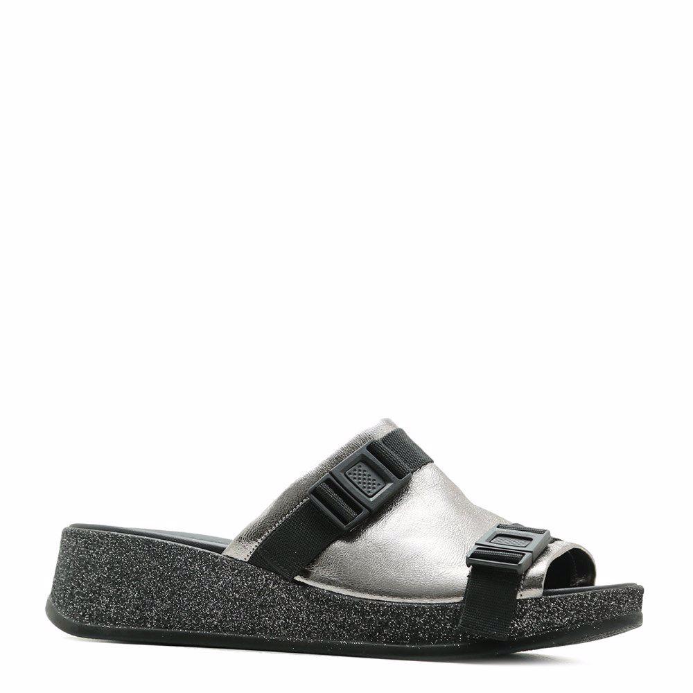 Купить Женская обувь, Шлепанцы на платформе, Prego, серый