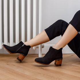 Ботинки осенние на каблуке prego - Фото №6