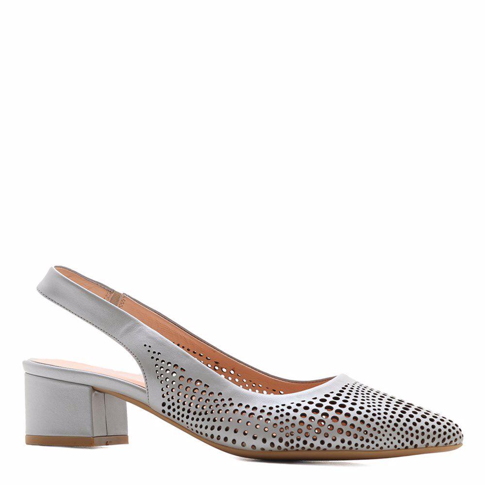 Купить Женская обувь, Босоножки на каблуке, Prego, серый