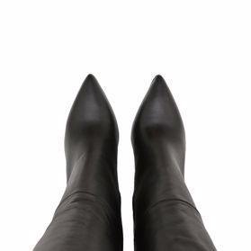 Ботфорты осенние на каблуке - Фото №4