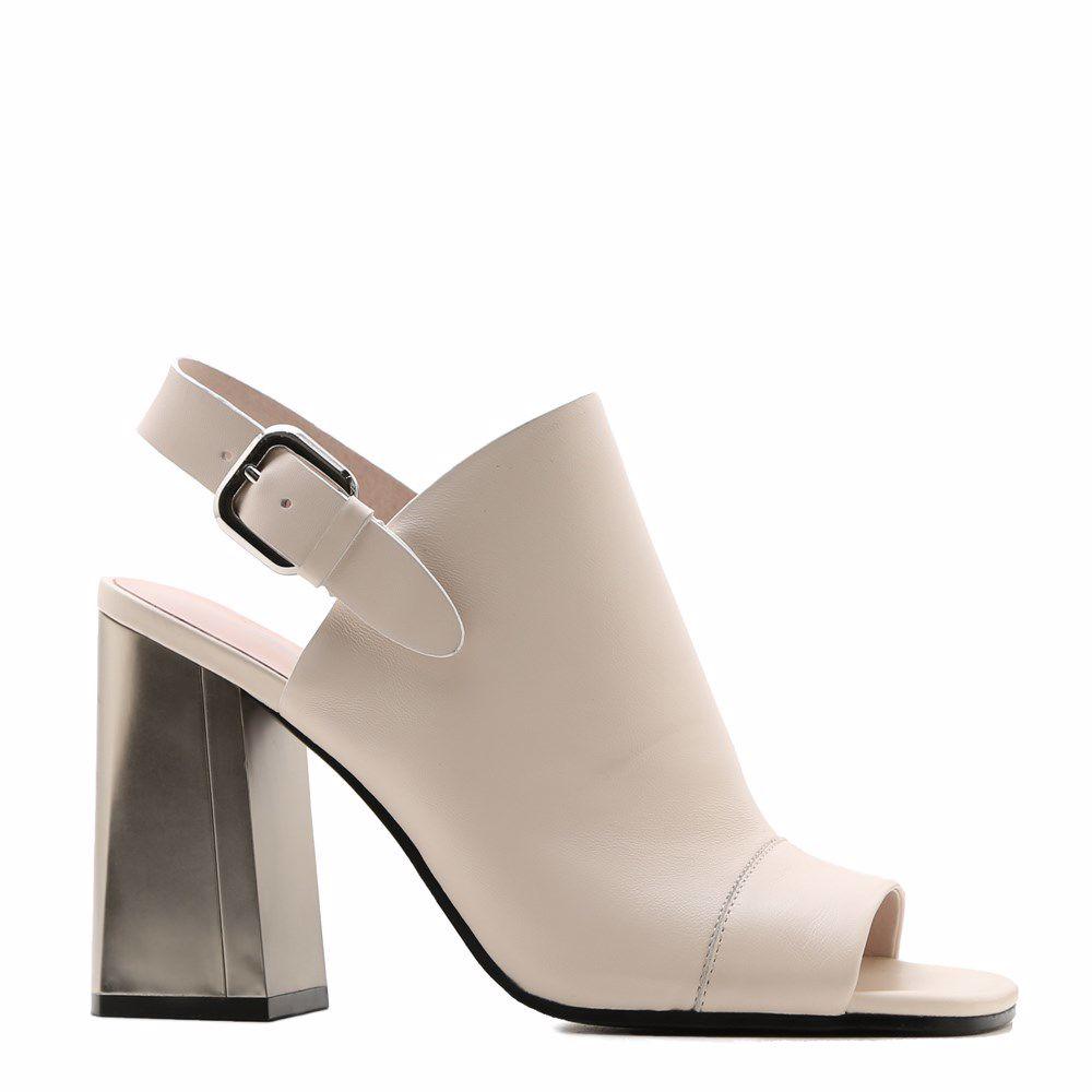 Купить Женская обувь, Босоножки на каблуке, Prego, кремовый