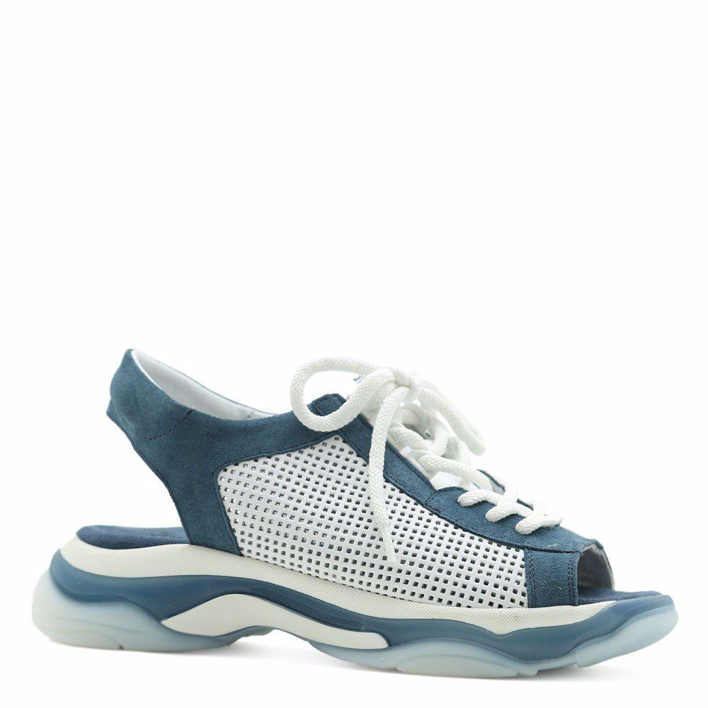 Купить Женская обувь, Босоножки на низком ходу, Prego, синий