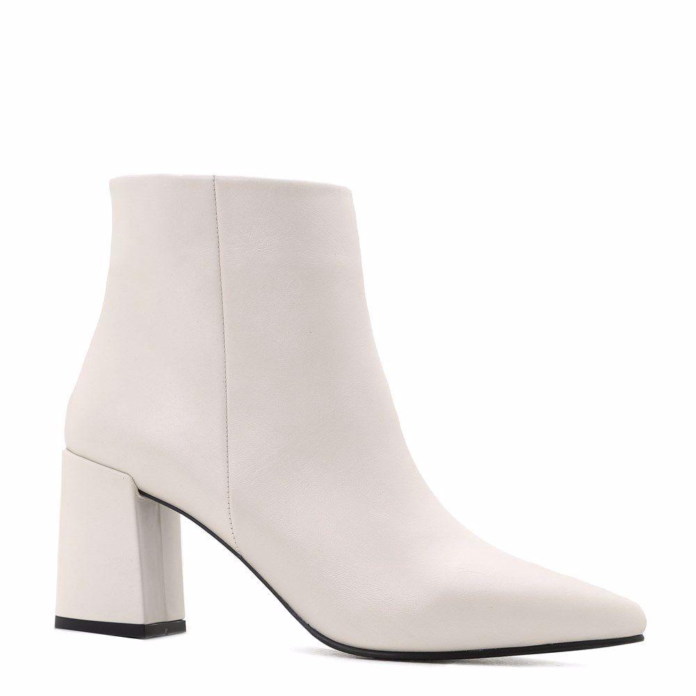 Купить Женская обувь, Ботинки осенние на каблуке, Prego, кремовый