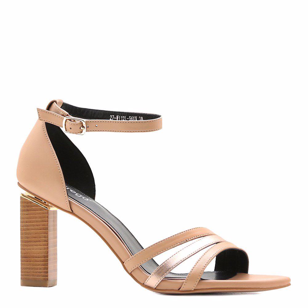 Купить Женская обувь, Босоножки на каблуке, Prego, бежевый