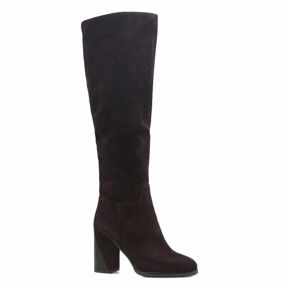 Купить Женская обувь, Сапоги зимние на каблуке, Prego, коричневый