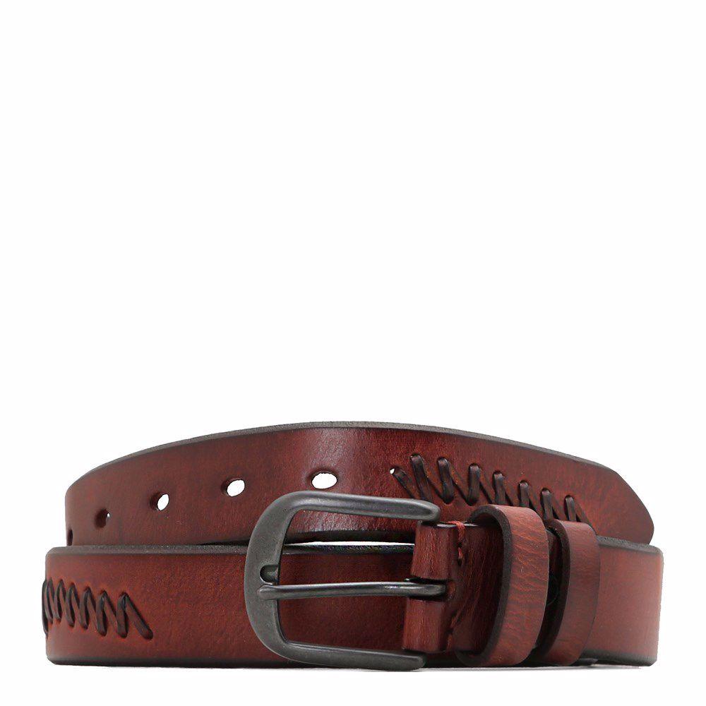020126 Ремінь чоловічий No brand, коричнева, натуральна шкіра
