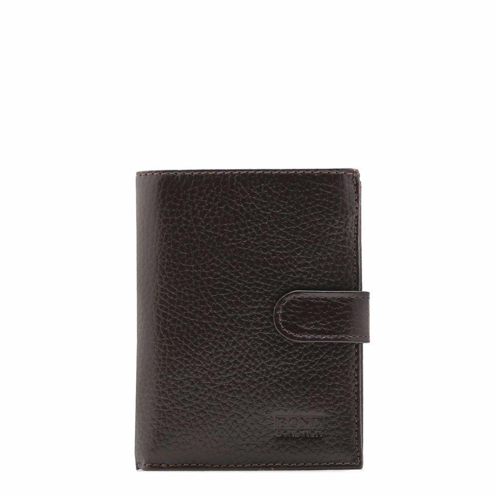021118 Гаманець чоловічий Bond, коричнева, натуральна шкіра