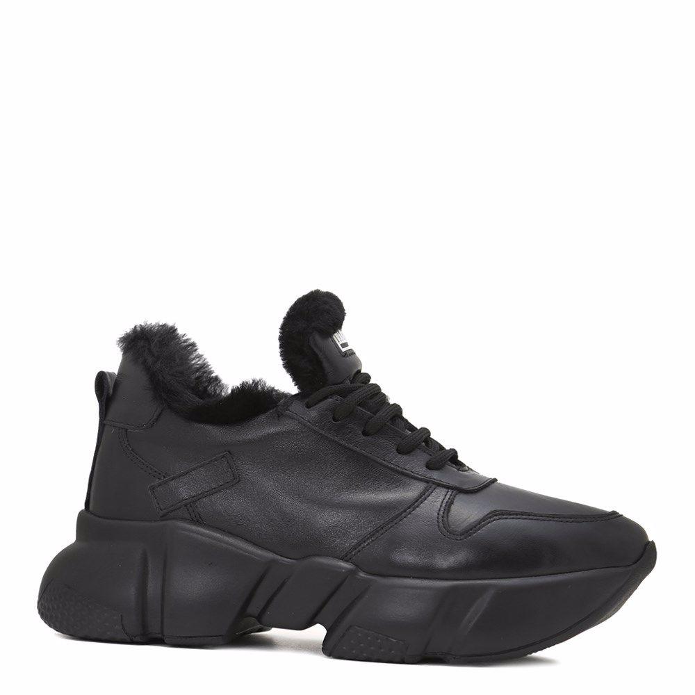 Купить Женская обувь, Кроссовки женские зимние, Prego, черный