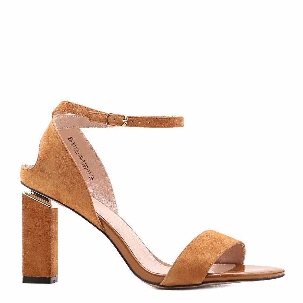 Купить Женская обувь, Босоножки на каблуке, Prego, рыжий