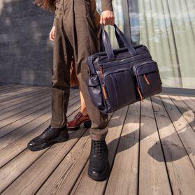 Портфель мужской из натуральной кожи - Фото №6