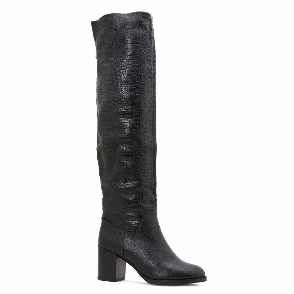 Купить Женская обувь, Ботфорты зимние на каблуке, Prego, черный