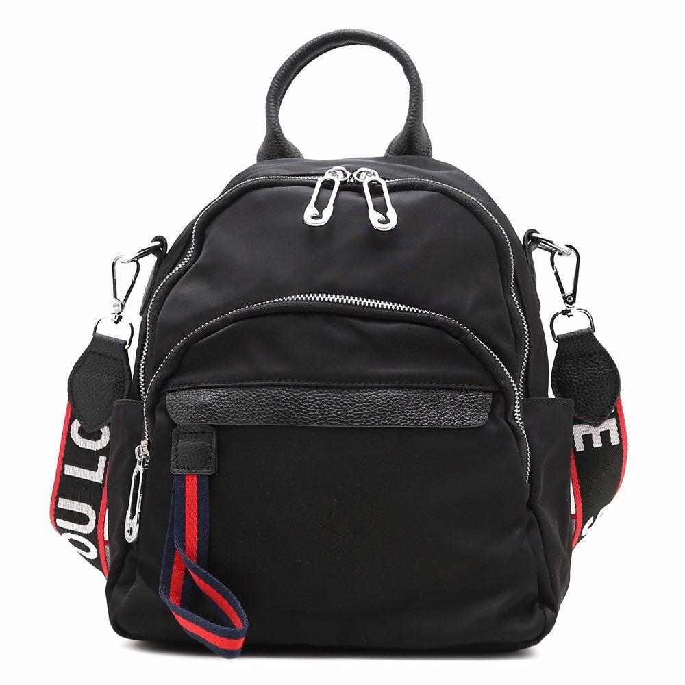 021842 Рюкзак жіночий Balina, чорна, текстиль