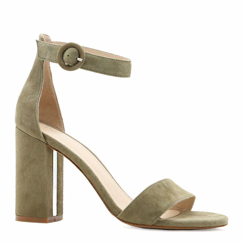 Купить Женская обувь, Босоножки на каблуке, Prego, оливковый