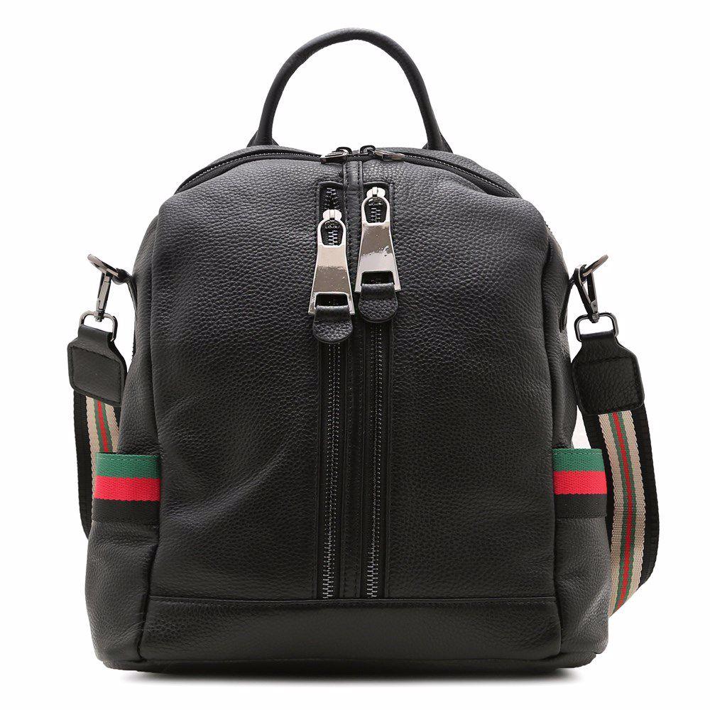 022238 Рюкзак жіночий шкіряний Balina, чорна, натуральна шкіра