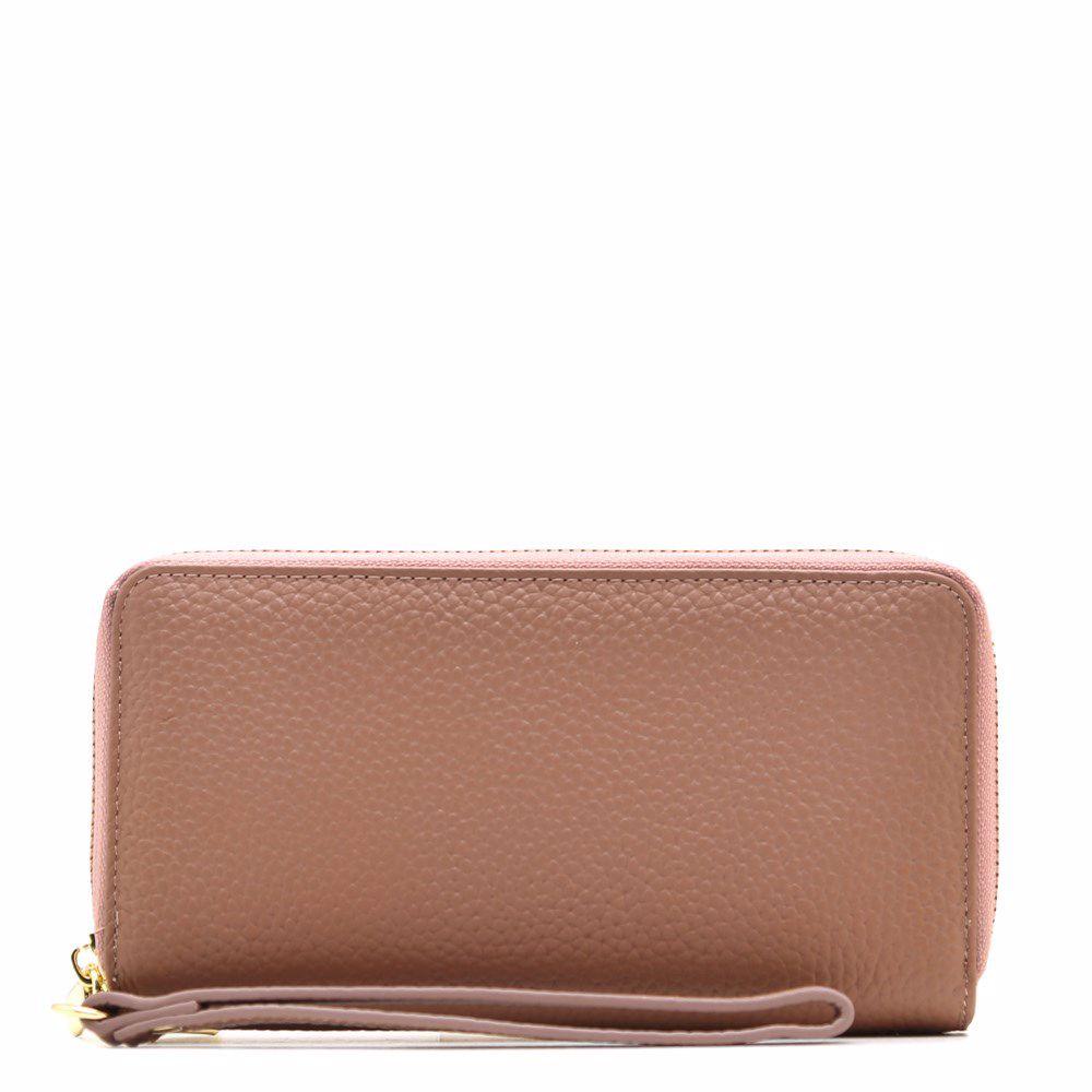 021780 Гаманець жіночий No brand, фіолетова, натуральна шкіра
