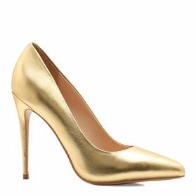 золотые туфли лодочки 6