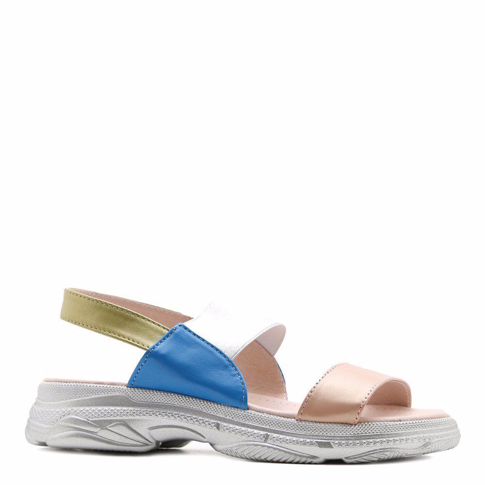 Купить Женская обувь, Босоножки на низком ходу, Prego, голубой