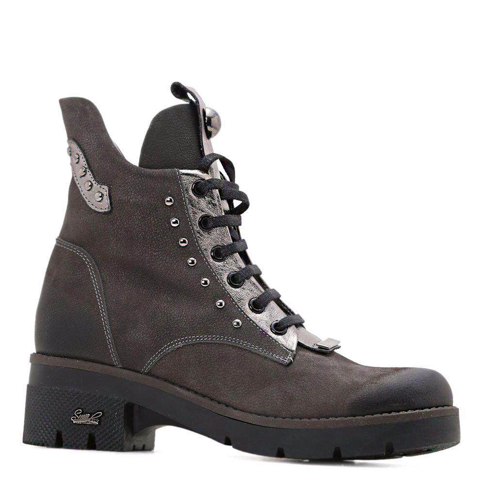 Купить Женская обувь, Ботинки зимние на каблуке, Prego, серый
