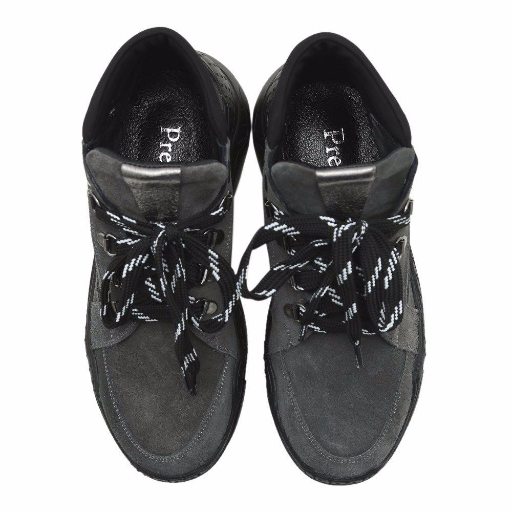 Фото 4 - Ботинки осенние на низком ходу от Prego цвет сірий