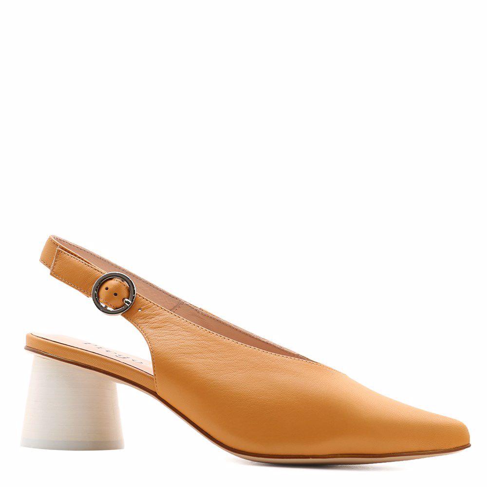 Купить Женская обувь, Босоножки на каблуке, Prego, желтый
