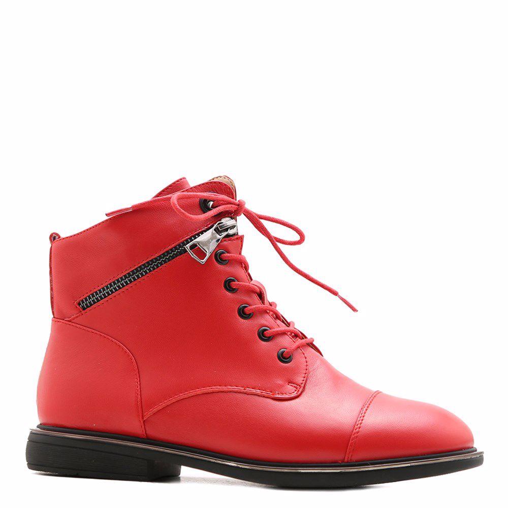 Купить БОТИНКИ НА НИЗКОМ ХОДУ, Ботинки весенние на низком ходу, Prego, красный