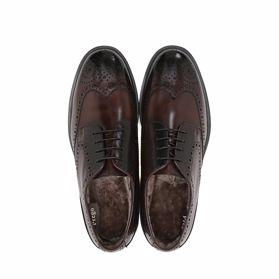 Классические зимние мужские туфли - Фото №4