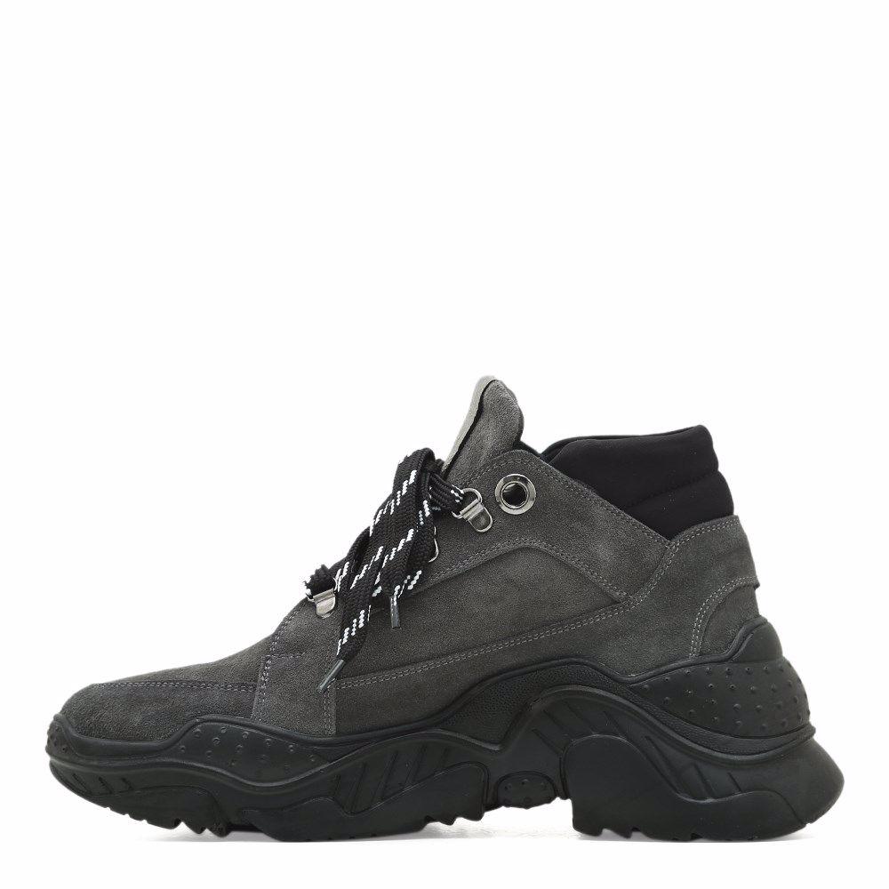 Фото 2 - Ботинки осенние на низком ходу от Prego цвет сірий