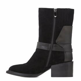 Ботинки зимние на каблуке - Фото №2