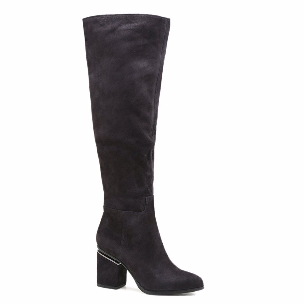 Купить Женская обувь, Сапоги осенние на каблуке, Prego, серый
