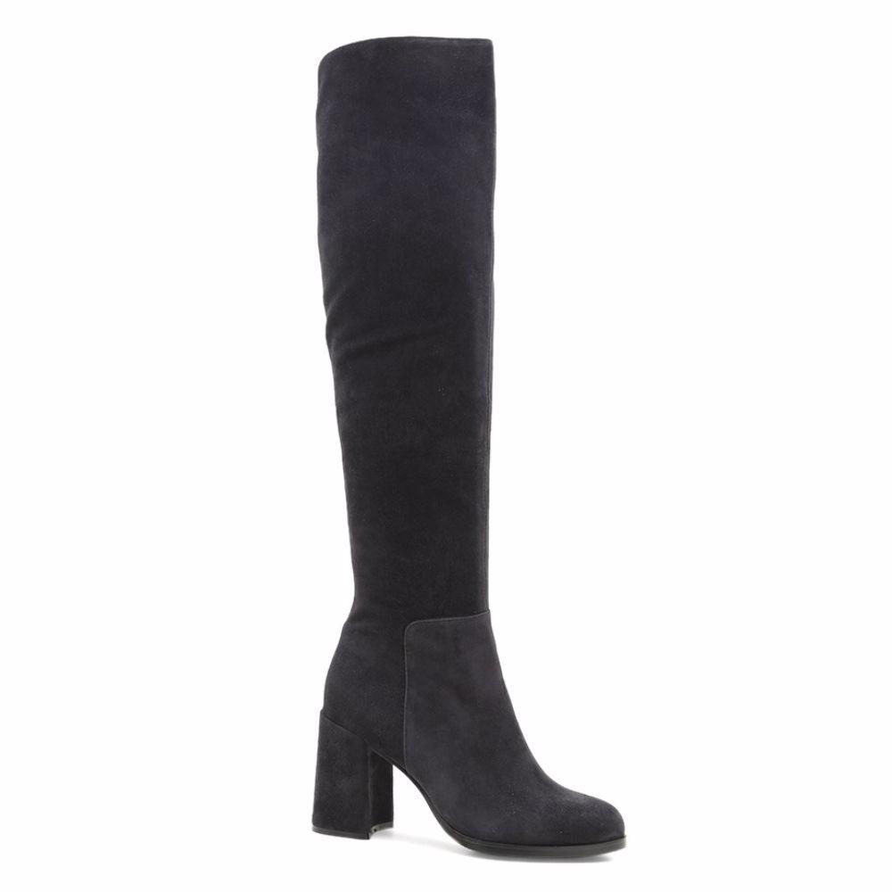 Купить Женская обувь, Сапоги осенние на каблуке, Prego, темно-серый