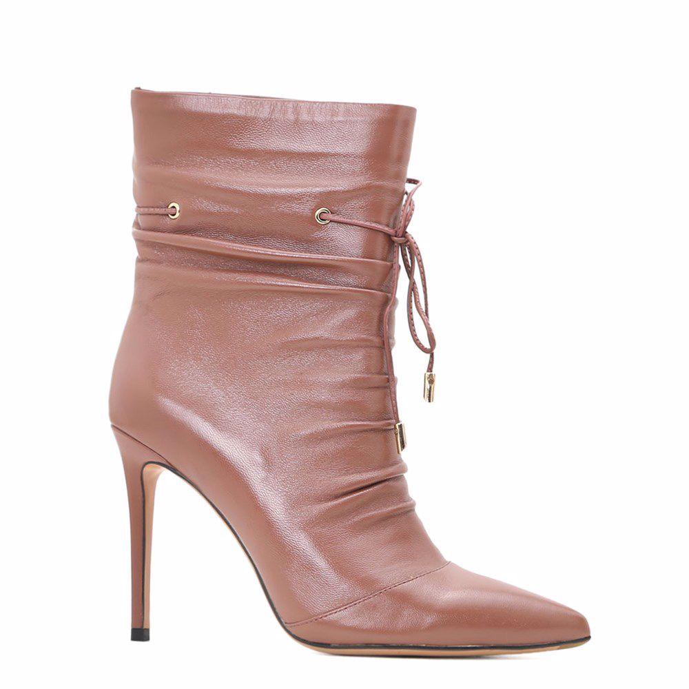Купить Женская обувь, Ботинки осенние на каблуке, Prego, розовый