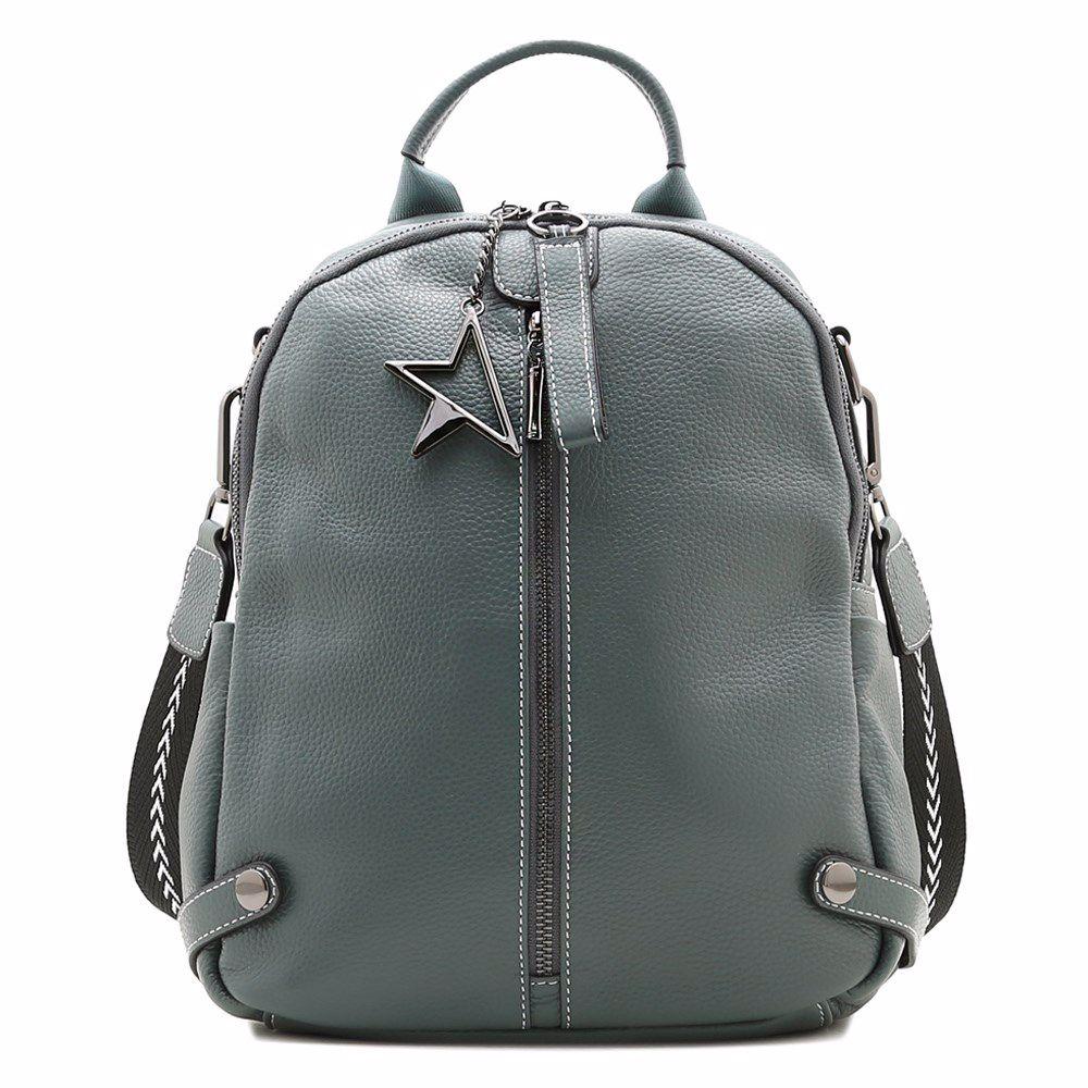 022210 Рюкзак жіночий шкіряний Balina, бірюзова, натуральна шкіра